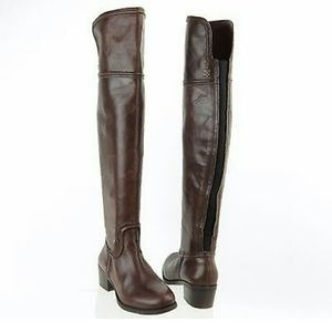 FUNTAISMA NWOB Silver Metallic Stretch Knee High Zip Up Gogo 300 Boot Sz 9 B4040